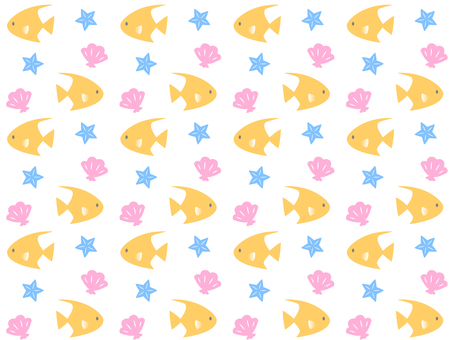 Tropical fish pattern