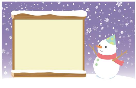 Snowman note