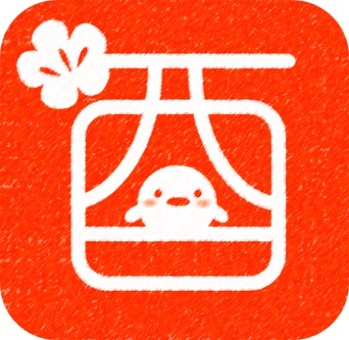 Hanko style New Year's card material Rooster