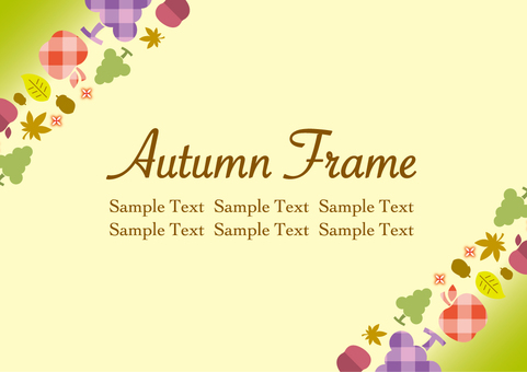 Autumn fruit frame_B01