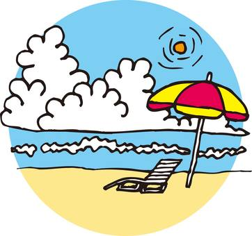 Sea, bathing, umbrella