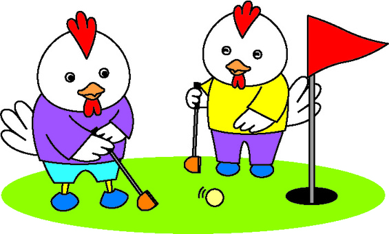 Chickens and park golf 3