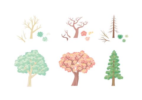 木のイラスト素材