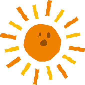 The character of the surprised face of the sun