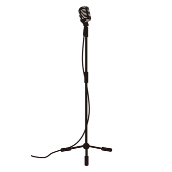 Silhouette of microphone (with stand)