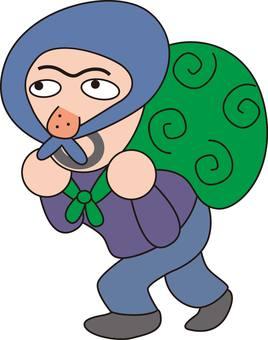 Thief, steal, thief, furoshiki