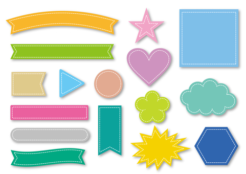 Title Ribbon collection _ colorful