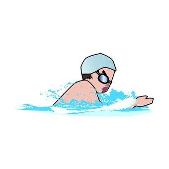 Swimming breaststroke