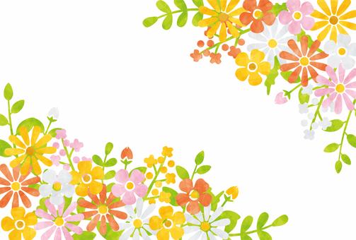 Flower frame / red series