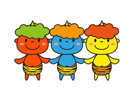 3 group of kid