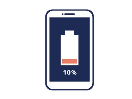 Smartphone, smartphone charge 10%