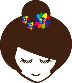 Fashionable lady icon 5