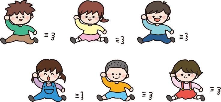 子どもたち(走る)