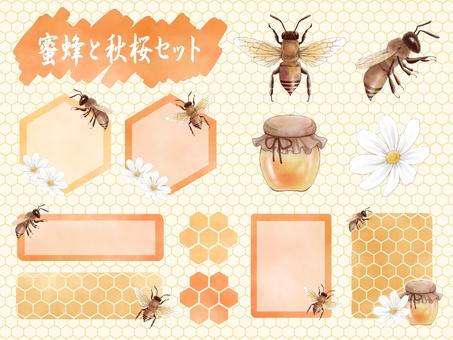 Bee and autumn cherry set