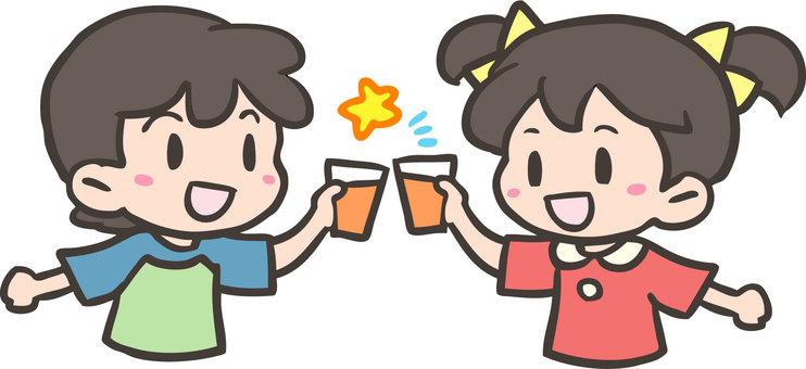 歡呼與果汁!