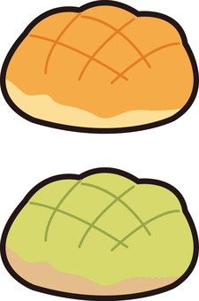2 kinds of melon bread