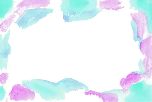 Watercolor frame blue purple