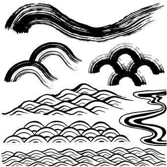 Written handwritten brushlet illustration