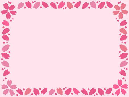 手描き風桜フレーム