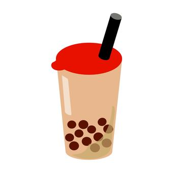 Tapioca milk tea red
