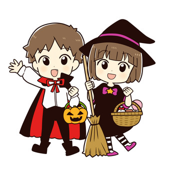 ハロウィンの仮装(男の子・女の子)
