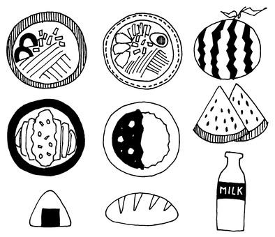 School image set (meal / food)