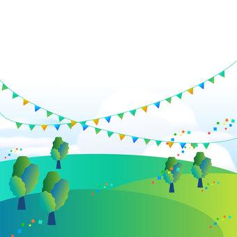 Event, fun, bright, landscape
