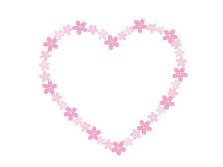 Sakura frame heart line