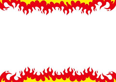 Fire Fire pattern Wallpaper ☆ Flyer material etc.
