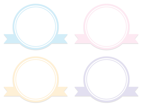 Cute ribbon banner (pastel) 02