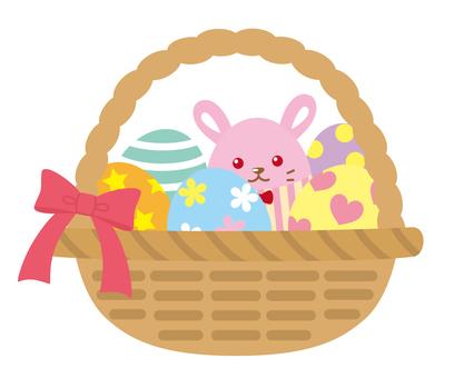 Easter egg in the basket