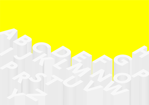 Three-dimensional English yellow background material