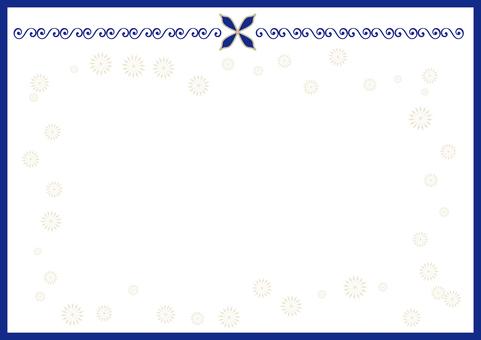 Menu frame · blue