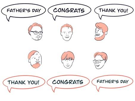 お父さんに感謝を伝えるメッセージイラスト