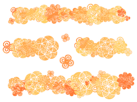 Japanese Pattern Parts (Orange)