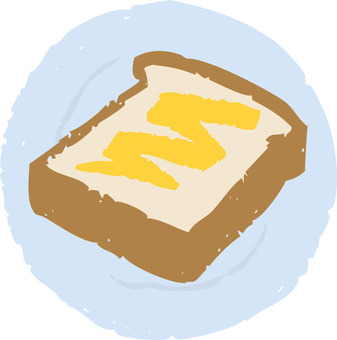 Butter toast (with dish)
