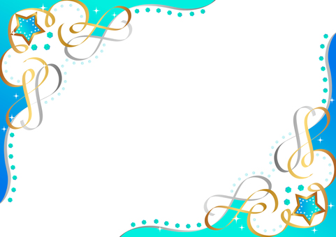 Glittering frame blue