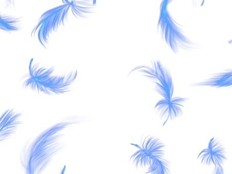 날개 춤추는 신비 흰색 배경
