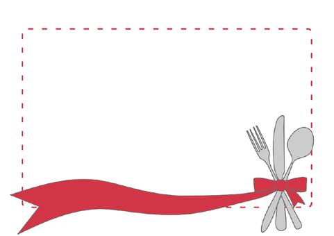 Fork, knife, spoon illustration 2