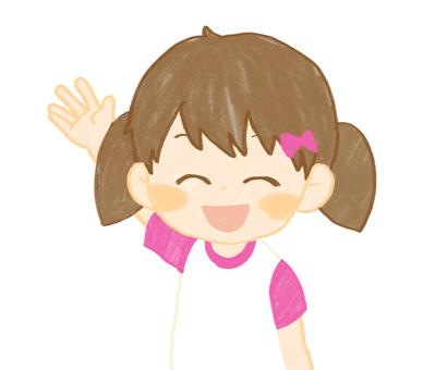 Girls smiling face