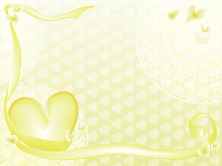 Heart Frame 1 Yellow
