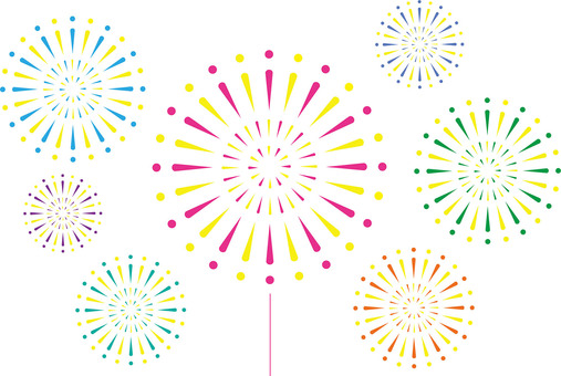 Classic ・ Fireworks image (simple material)