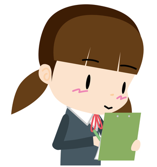 Female student (questionnaire) Bust up