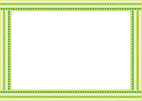 Frame - square bracket - green