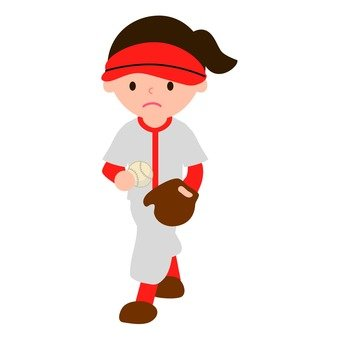 Baseball (girls) red