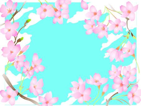 Blue sky and cherry tree CS2