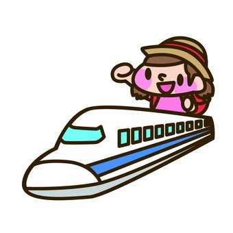 Girls riding Shinkansen