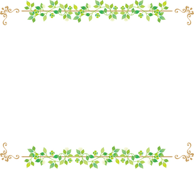 Leaf decoration frame
