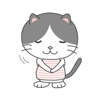 Hachiware cat-chan bow