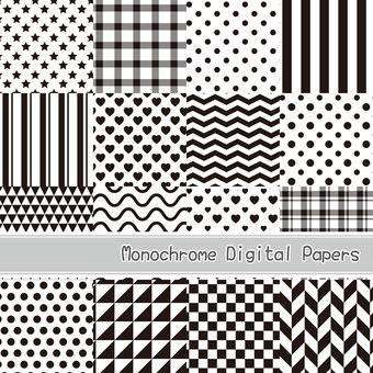 Monochrome background material (seamless pattern)